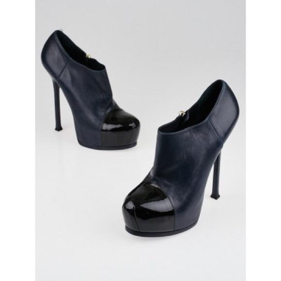 858b14821c0f Yves Saint Laurent Shoes | Ysl Tribtoo Blue Booties | Poshmark
